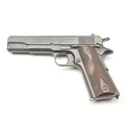 Colt Model of 1911 U.S. Army semi-automatic  pistol, .45 ACP caliber, Serial #203446.  The  pistol i