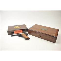 Colt Model S Master's Edition Colt .22  caliber Woodsman series, Serial #317486S  (Huntsman) semi-au