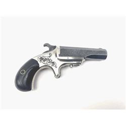 A Scarce Engraved Marlin .41 Caliber  Derringer with Rosewood Grips. Serial Number  1588. 41 rimfire