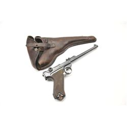1916 dated DWM Artillery Lugar semi-automatic  pistol, 9mm caliber, Serial #7245.  The  pistol is in