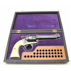 Colt SAA Bisley Model revolver, .44-40  caliber, Serial #193093.  The pistol is in  excellent overal