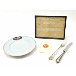 Lot of authentic WWII items formerly property  of Hermann Goring, Reichsmarschall of  Germany.  The