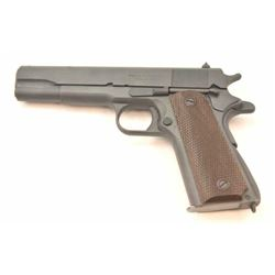 Ithaca 1911A1 U.S. Property marked Semi-Auto  pistol in .45 ACP, S/N 1269666 and made in  1944. All