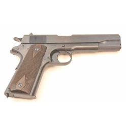 Colt 1911 U.S. Property marked Semi-Auto  pistol in .45 ACP caliber, S/N 373915. Made  1918 and so c