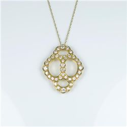 Brilliant Extra Fine Vintage Diamond Pendant  featuring 36 'IDEAL' cut Diamonds weighing  approx. 1.