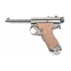 ��Papa�� Nambu Japanese semi-automatic Military  Issue pistol, 8mm, Serial #3787.  The pistol  retains