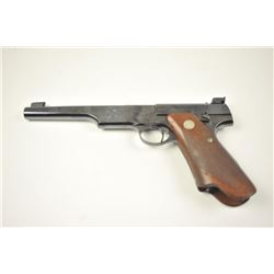 "Pre-War Colt Match Target Woodsman .22  caliber semi-automatic pistol with Roper  style checkered ""E"