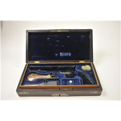 """Ultra-Deluxe French style rosewood box for  Colt 1849 Pocket Model with a 5"""" barrel small  guard wit"""