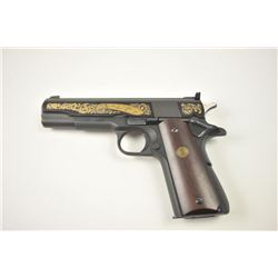 "Colt ""Ace"" .22 caliber semi-automatic pistol  Signature series 1981 with gold ornamentation  and pre"