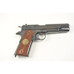 Scarce intact six gun matching set of World  War I and World War II commemorative Model  1911 and 19