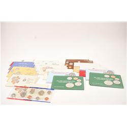 Lot of uncirculated U.S. coin sets.   1985-1994 in packs from P&D mints, 19 in  total.  Great for st