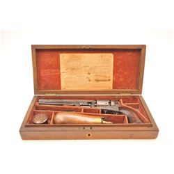 Colt 1851 London Navy .36 caliber percussion  revolver, factory engraved in the original  case, Seri