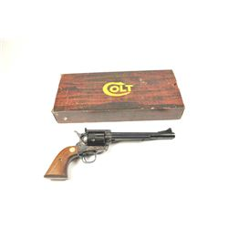 "Colt SAA ""New Frontier"" 2nd Generation  revolver in .45 Colt caliber with a 7 ½""  barrel, blue and c"