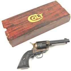 "Colt 3rd Generation SAA Revolver in .44  Special caliber with a 4 ¾"" barrel, blue and  case colored"