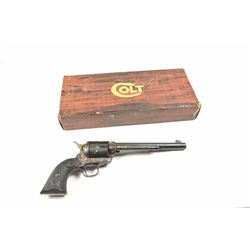 """Colt 3rd Generation SAA revolver in .44  Special caliber with a 7 ½"""" barrel, blue and  case colored"""
