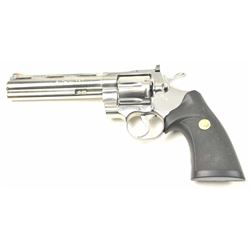 Colt Python DA revolver, .357 Magnum caliber,  Serial #T86287.  The pistol is in nearly  excellent o