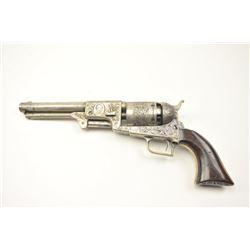 Colt 2nd Model Dragoon Percussion revolver in  .44 caliber inscribed Tribute to Texas Hero,  Col. Ja