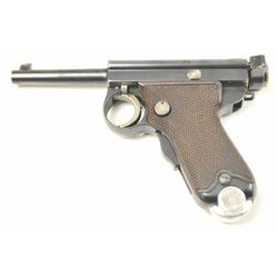 "Japanese Type B ""Baby Nambu"" Pistol in 7mm  with Kokura Arsenal markings in fine to  excellent origi"