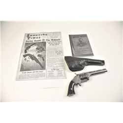 Smith & Wesson #2 Model, .32 rimfire caliber,  SA revolver with a period holster, Serial  #9676.  In