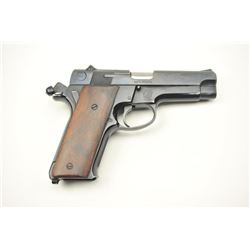Smith & Wesson 59 Double Action Semi-Auto  pistol in 9mm with custom wood grips and  detective's (Ma