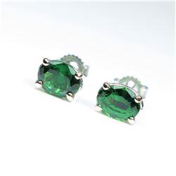 Gorgeous AAA Quality Fine Tsavorite Stud  Earrings weighing approx. 1.80-2.00 carats  set in 14 kara