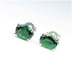 Gorgeous AAA Quality Fine Tsavorite Stud  Earrings weighing approx. 1.80-2.00 carats  set in 14 kara