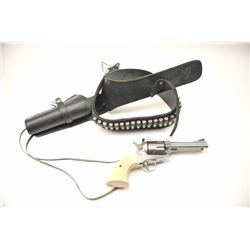 """Ruger New Model Blackhawk .357 magnum Single  Action Revolver with a 4 ¾"""" barrel, stainless  steel,"""