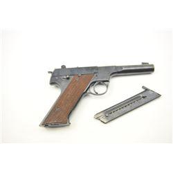"Hi Standard HD Military Semi-Auto Pistol in  .22 caliber with a 4 ½"" heavy barrel and U.S.  marked w"
