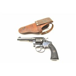 """Colt Police Positive Double Action revolver  in .38 caliber with a 4"""" barrel and early  hard rubber"""