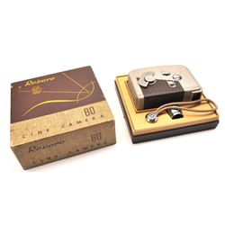 Revere 80 8mm home movie camera Chicago,  Illinois excellent in the box with strap.   The camera sho