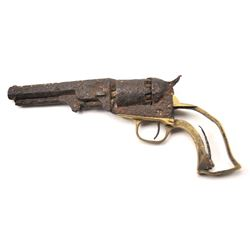 """Colt rusty relic 1849 Pocket Model with a 5""""  barrel, Serial #256232.  The pistol is in  relic condi"""