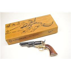 """Uberti Italy made replica of Colt 1849 Pocket  Model with a 4"""" barrel, blue and case  colored, S/N 0"""