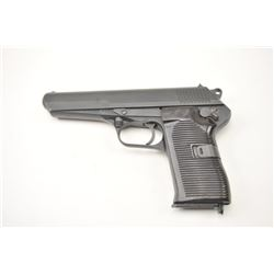 """CZ-52 Semi-Auto Pistol in 7.62 Tokarev  caliber, S/N V14607 and """"NID"""" maker code  marked. 1953 dated"""