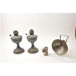 Brass kerosene lamp marked Lovell & Company  decorated with an American Eagle and Star  decoration w