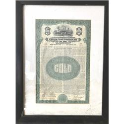 $1000 gold debenture from Cuban cane products  signed by Trustee N.Y and officers dated  1930 due 19
