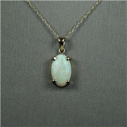 Colorful Australian Opal Pendant featuring an  oval shaped Opal weighing approx. 5.00  carats with o
