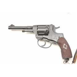 Russian Nagant Revolver Dated 1936 with  Russian star in 7.62 Nagant caliber, import  marked, refini