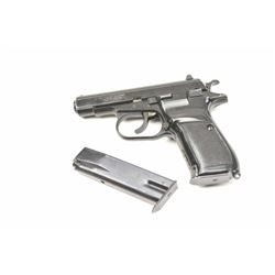 Czech CZ-82 Double Action Semi-Auto Pistol in  9 x 18 Makarov with import marks, S/N  136345. Black