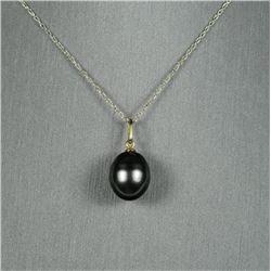 Gorgeous Natural Black Tahitian Pearl Pendant  measuring approx. 13.00 MM x 12.00 MM in  diameter se