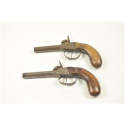 Lot of two European percussion pistols made  for export circa 1840-1860's, no proofs,  Central Europ