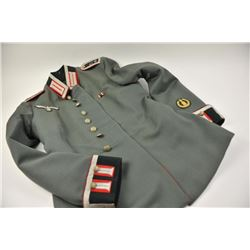 Authentic German Nazi era sergeants' uniform  with full insignia and unit number on  shoulder boards