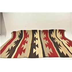 """Navajo woven rug measuring 30"""" x 40"""" in good  to very good condition circa 1910-1940's with  slight"""