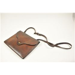 """Dispatch Bag marked """"Chas. A. Swope Maker,  Montrose, Colo."""" In very good condition.   Est.:  $150-$"""