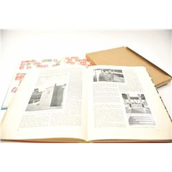 WWII Hitler propaganda book in almost fine  condition and wartime stamp collection  brought home by