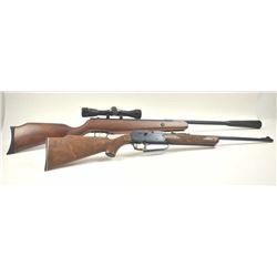 """Lot of two air rifles.  The lot includes:  a  Daisy Model 880 pump BB air rifle with a 21""""  barrel i"""