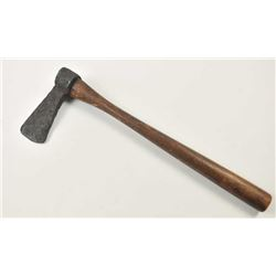 An excavated iron tomahawk possibly  Revolutionary War period. The head showing  great age and measu