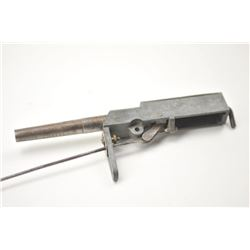 """A scarce Taylor's """"Fur Getter"""" trap gun. An  early example. The iron top plate cast in  relief """"Pat."""