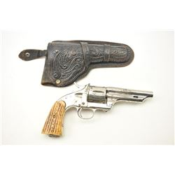 Merwin and Hulbert SA revolver, .44 caliber,  Serial #9713.  The pistol is in fair overall  conditio