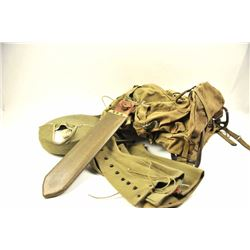 Another military collector lot of WWII and  Korean War militaria items.  Est.:   $200-$400.