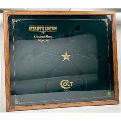 Colt Sheriff��s edition gun case.  Est.:   $250-$500.